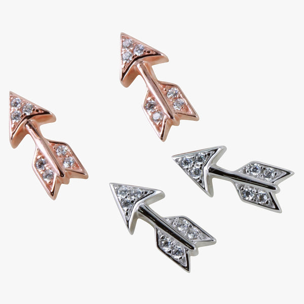 Arrow Pavé Stud Earrings