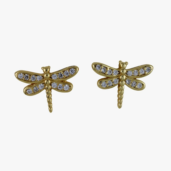 Pavé Dragonfly Stud Earrings