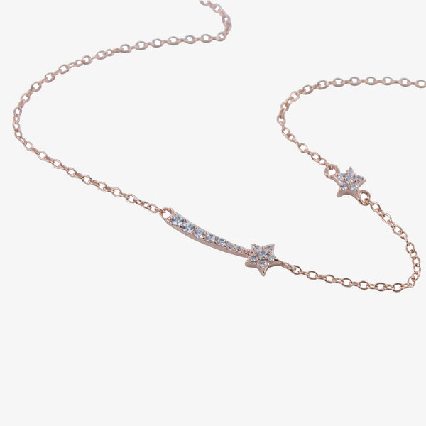 Shooting Star Pavé Necklace