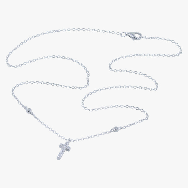 Cross CZ Necklace