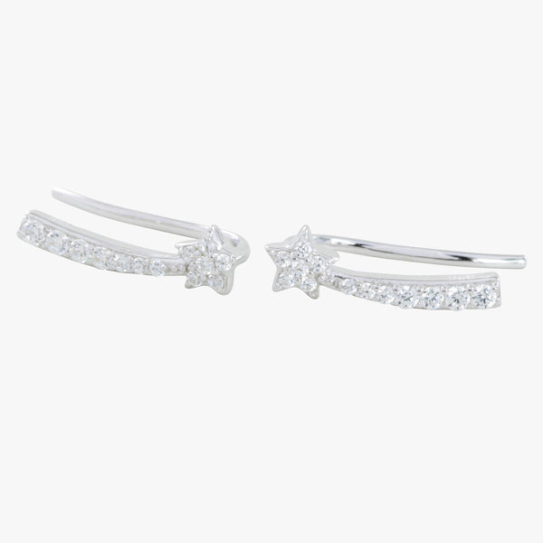 Pavé Shooting Star Hook Earrings