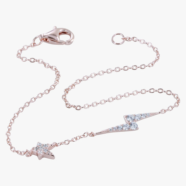 Lightning and Star CZ Bracelet