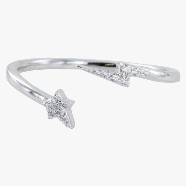 Lightning and Star Pavé Ring