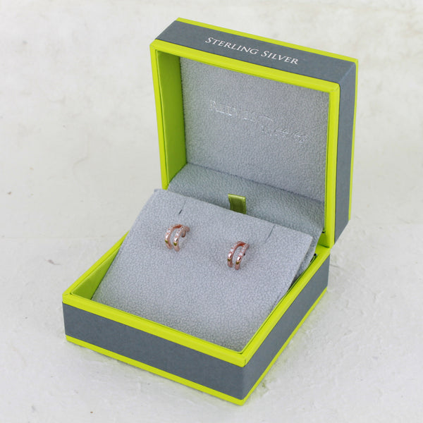 Pavé Split Huggie Earrings