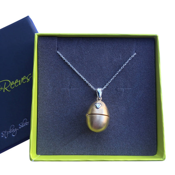 Egg Locket Pendant