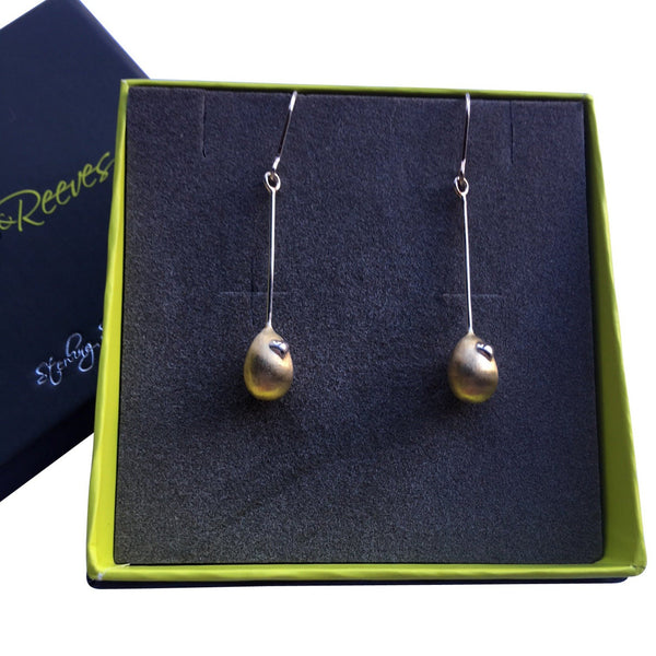 Egg Pendant Earrings