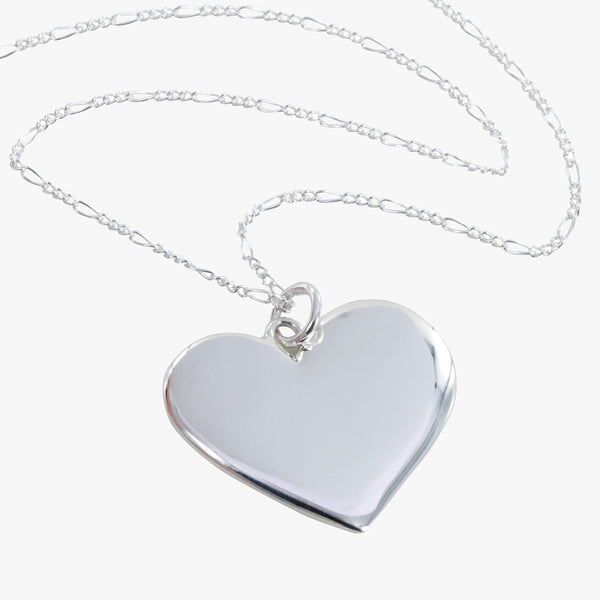 Engravable Heart Pendant Necklace