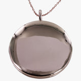 Sterling silver locket in rose gold vermeil finish
