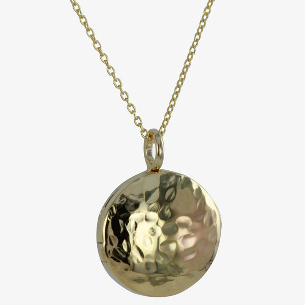 Kitty Hammered Locket