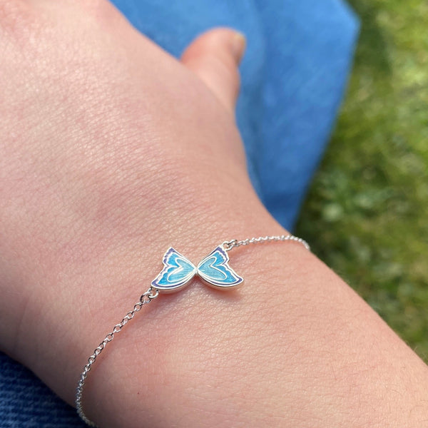 Enamel Butterfly Bracelet on wrist