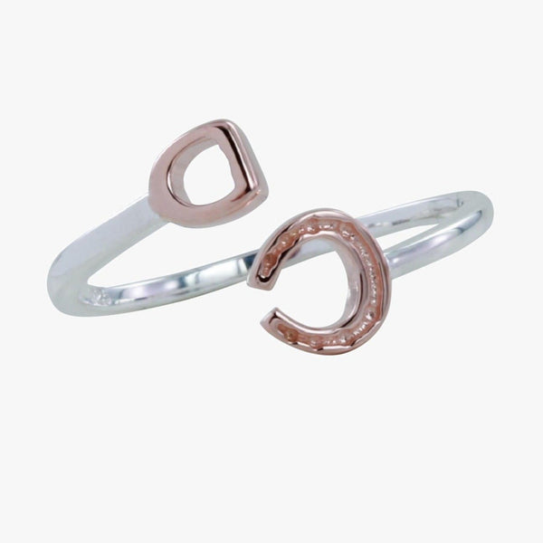 Stirrup and Horseshoe Ring