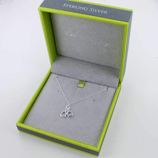 Two Stirrup Charm Necklace