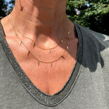 2 Layer Triangle Necklace