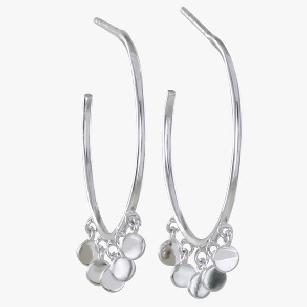Shaker Sterling Silver Hoop Earrings