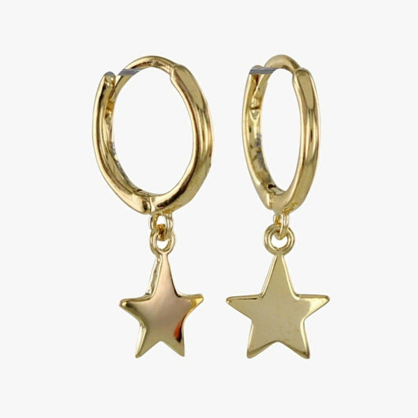 Sterling Silver Sleepy Star Hoop Earrings