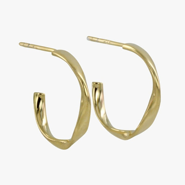 Sterling Silver Twister Hoop Earrings