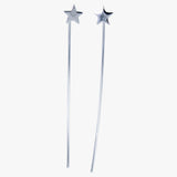 Long Back Star Earrings