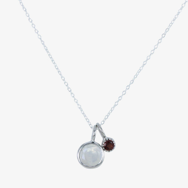 Iris Moon and Garnet Necklace