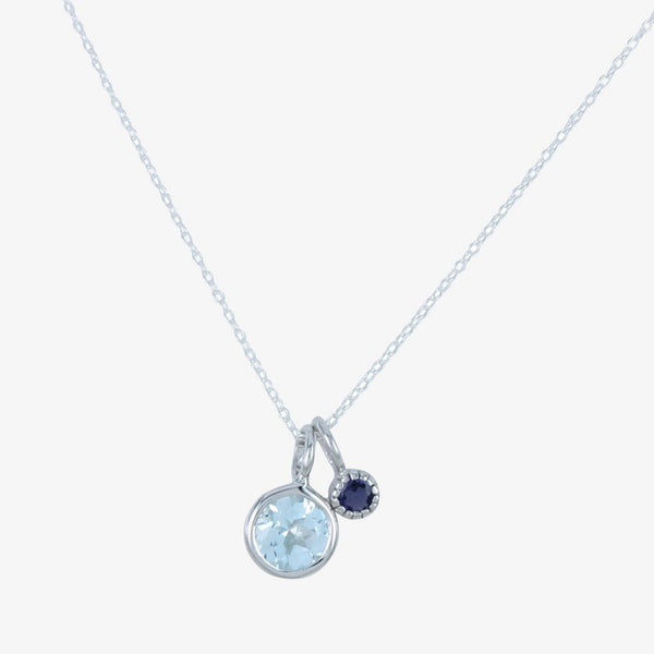 Iris Blue Topaz and Iolite Necklace