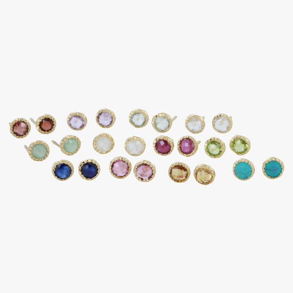Birthstone Stud Earrings