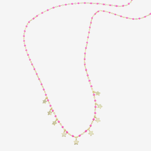 Pink Starry Necklace