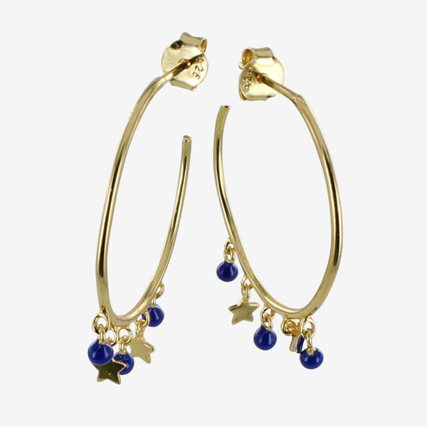 Blue Starry Hoop Earring