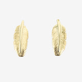 Small Sterling Silver Feather Studs