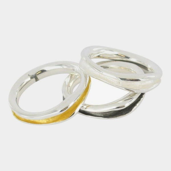 Tri Colour Rings
