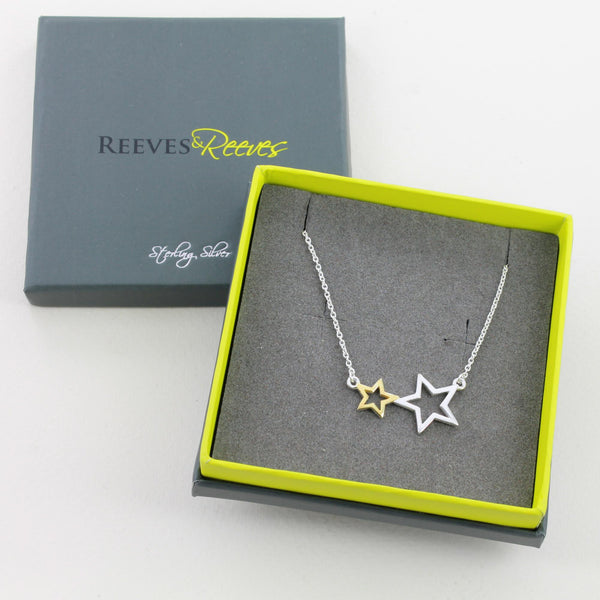 2 Star and Gold Necklace