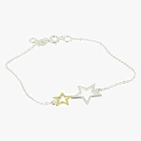 2 Star and Gold Bracelet