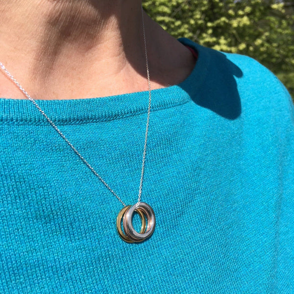 We Three Rings Necklace