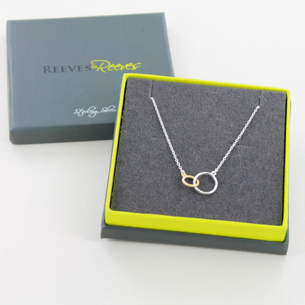 Twin Rings Necklace