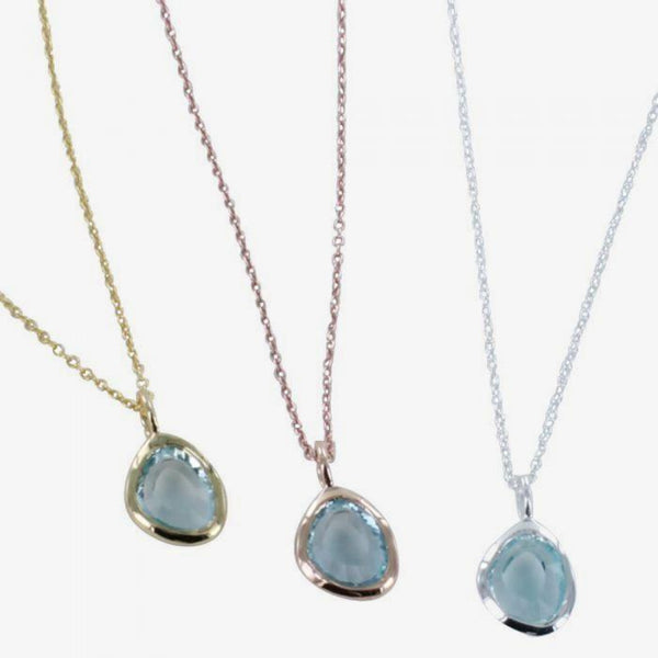 Midas Necklace Blue Topaz