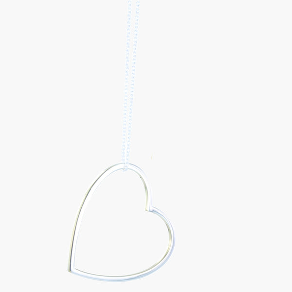 Sterling silver silhouette heart on a silver chain