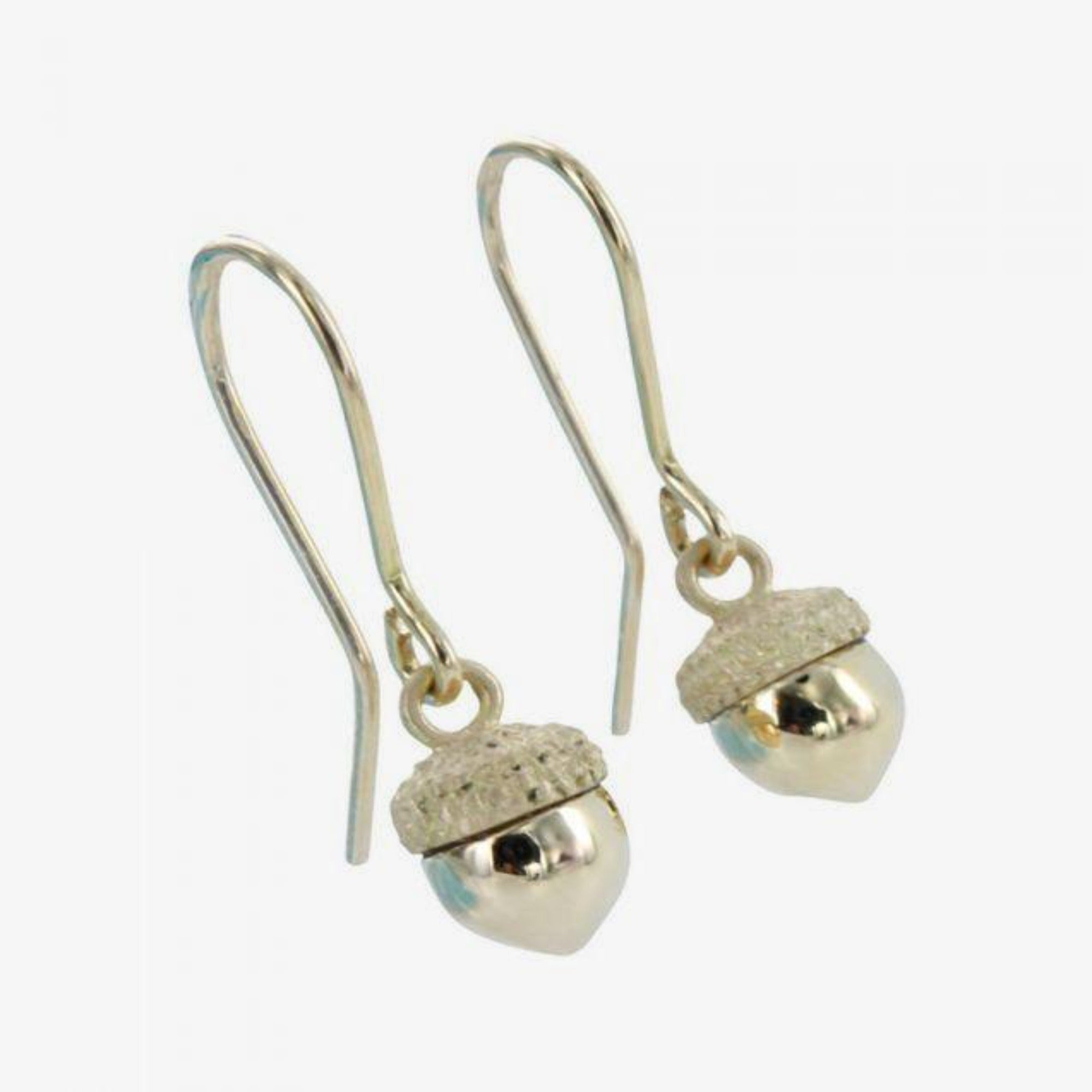 18k Gold Acorn Drop Earrings