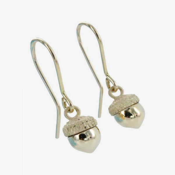 18k Gold Acorn Earrings