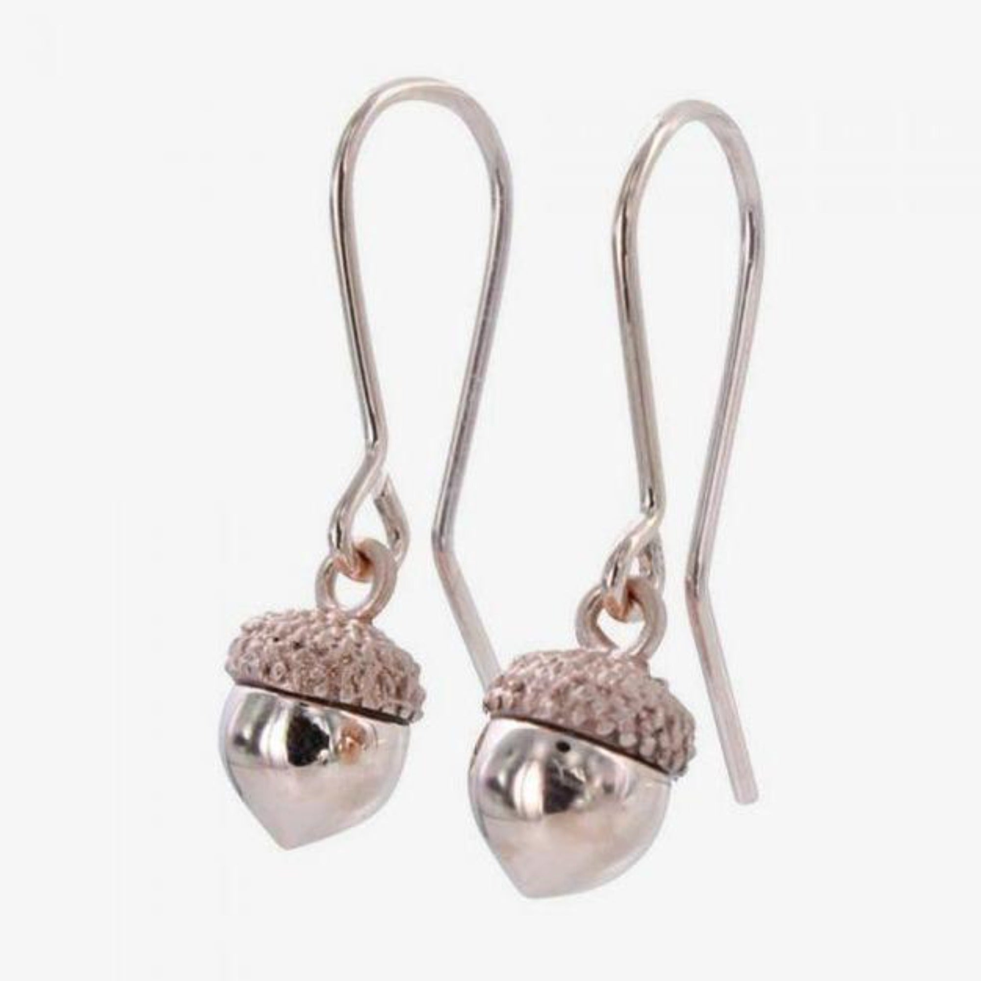 18k Rose Gold Acorn Earrings