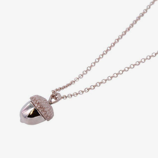 18k Rose Gold Acorn Necklace