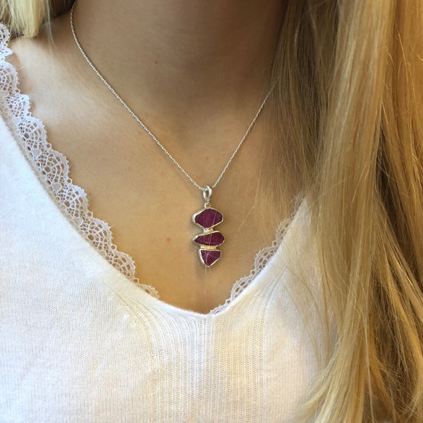 Rough Ruby Pendant