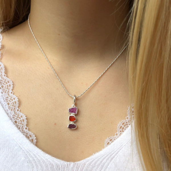 Rough Red Stones Pendant