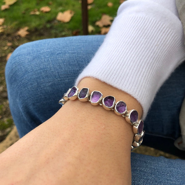 Rough Amethyst Bracelet