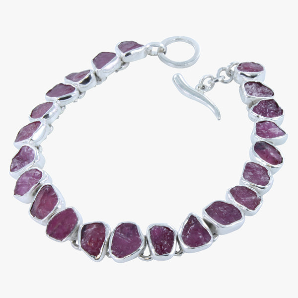 Rough Ruby Bracelet