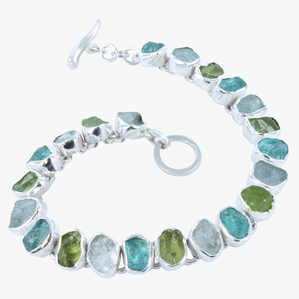 Rough Green Stones Bracelet