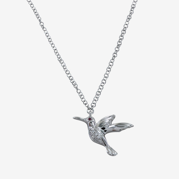 Diamond Hummingbird Necklace