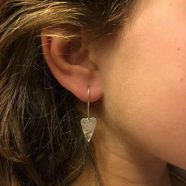 Trio of Hearts drop earrings