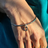 Heart Ingot Sterling Silver Bangle