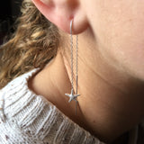 Falling Starfish Earrings