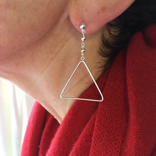 Ava Triangle Falling Earring