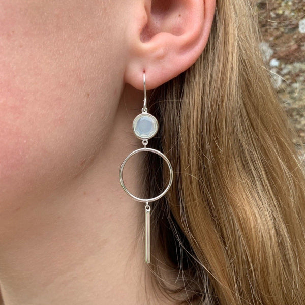 Dreamy Moon Drop Earrings