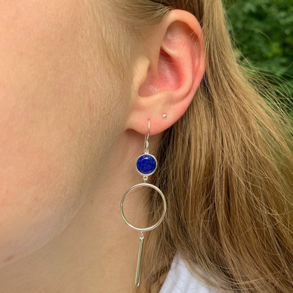 Dreamy Lapis Drop Earrings